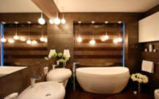 Стильный ремонт в ванной комнате — дело непростое