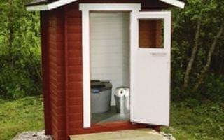 Туалет на даче