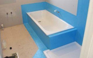 Способы гидроизоляции ванной комнаты расположенной в деревянном доме