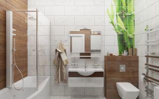 Интерьер ванной комнаты в эко-стиле