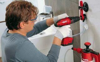 Чем и как просверлить плитку в ванной чтобы она не треснула