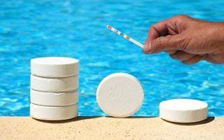 Средства для очистки воды в бассейне