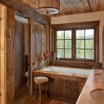 Ванная комната в стиле шале