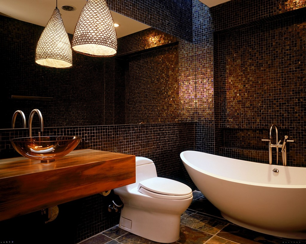 Ванны дизайн с мозаикой