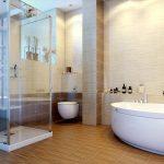 Керамическая плитка для ванной - фото (101)