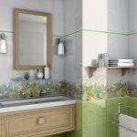 Керамическая плитка для ванной - фото (109)