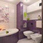 Керамическая плитка для ванной - фото (12)