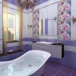 Керамическая плитка для ванной - фото (16)