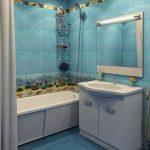 Керамическая плитка для ванной - фото (36)