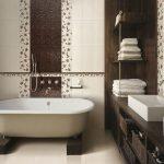 Керамическая плитка для ванной - фото (38)
