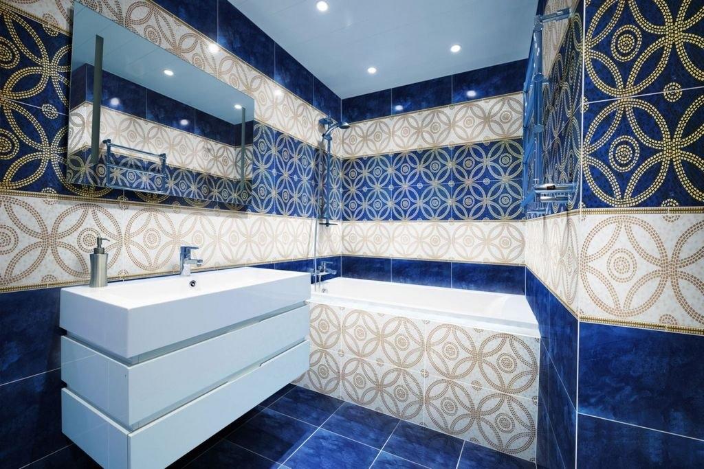 Керамическая плитка для ванной - фото (43)