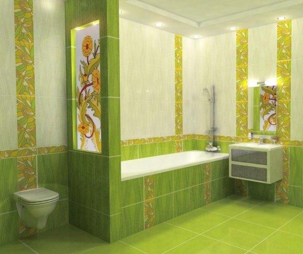 Керамическая плитка для ванной - фото (47)