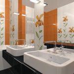 Керамическая плитка для ванной - фото (49)