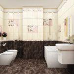 Керамическая плитка для ванной - фото (51)