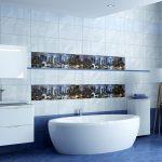 Керамическая плитка для ванной - фото (55)