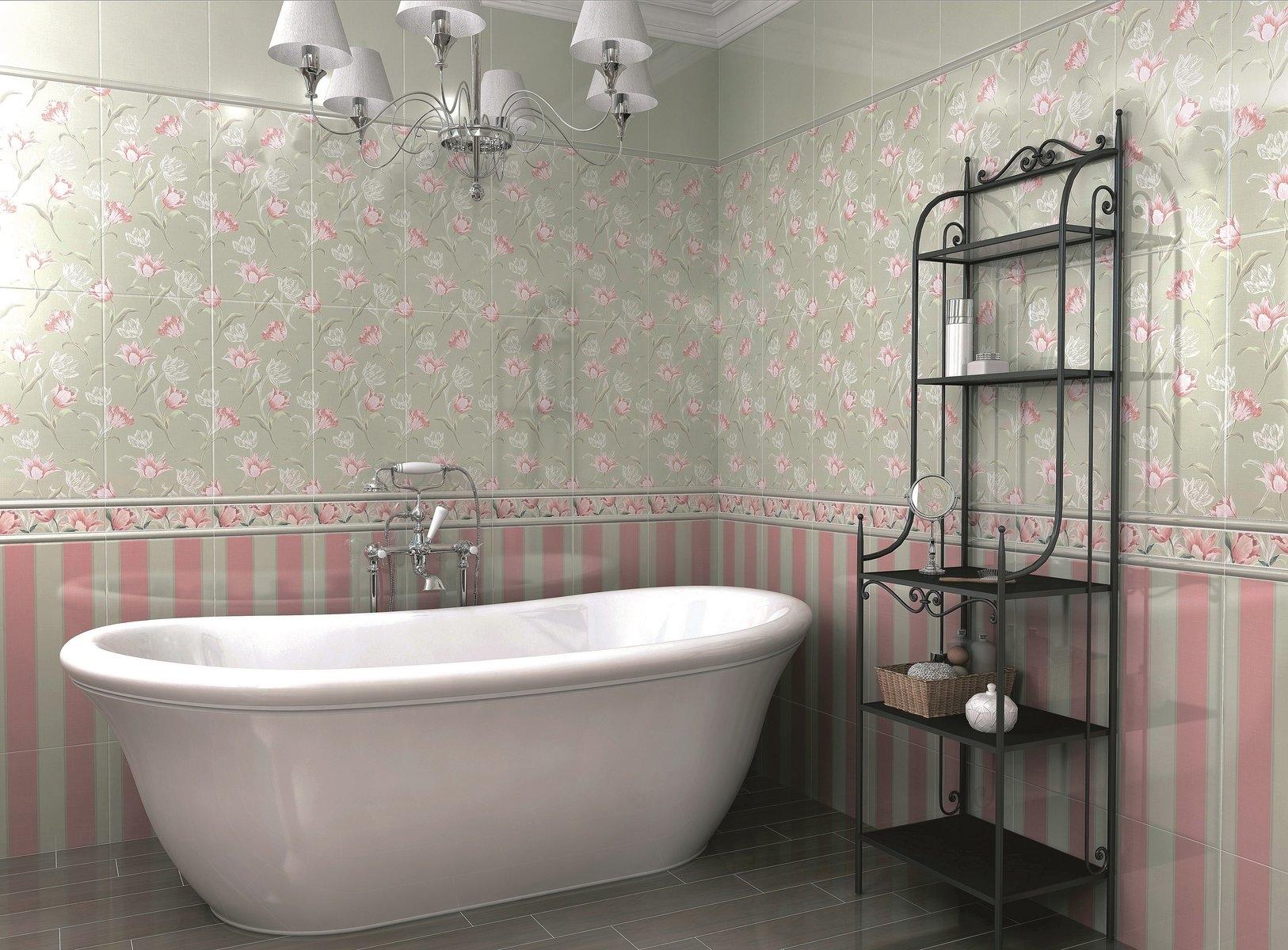 Керамическая плитка для ванной - фото (56)