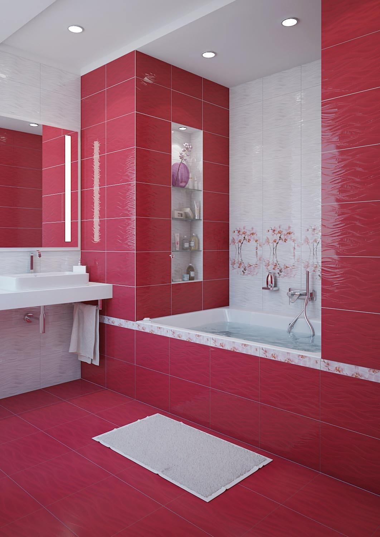 Керамическая плитка для ванной - фото (58)