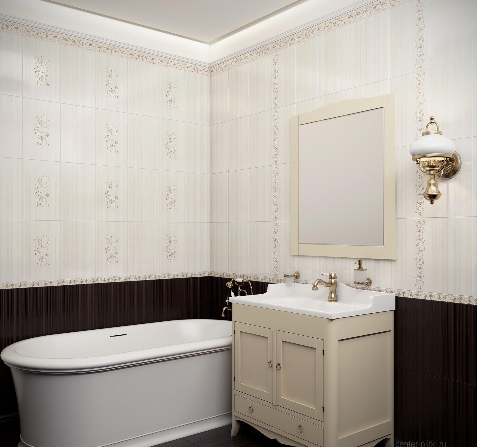 Керамическая плитка для ванной - фото (67)