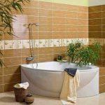Керамическая плитка для ванной - фото (75)