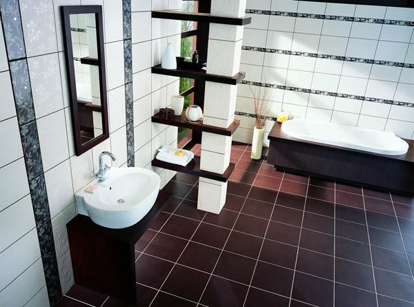 Керамическая плитка для ванной - фото (80)