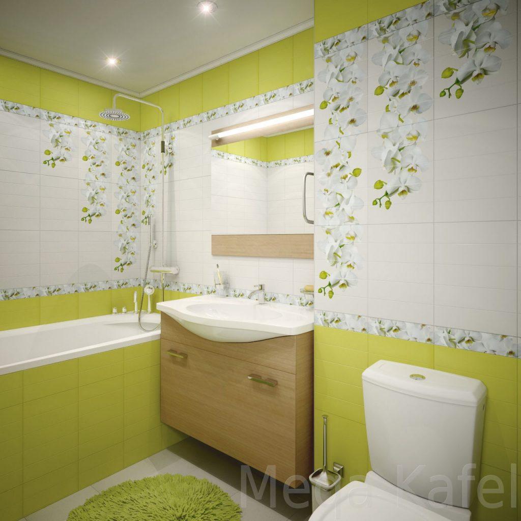 Керамическая плитка для ванной - фото (85)