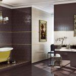 Керамическая плитка для ванной - фото (98)
