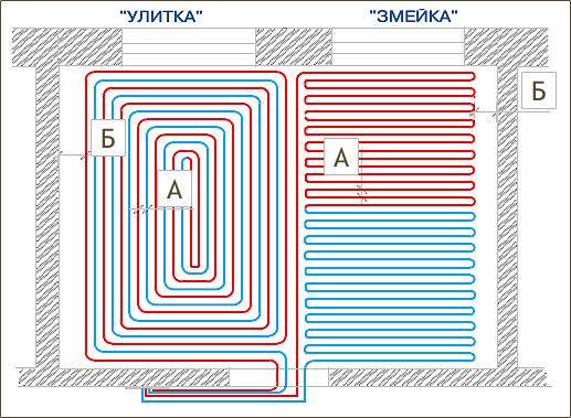 Водяной тёплый пол схема расчёт монтаж на деревянный пол