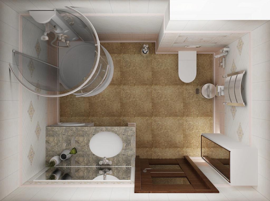 ванна в стиле минимализм