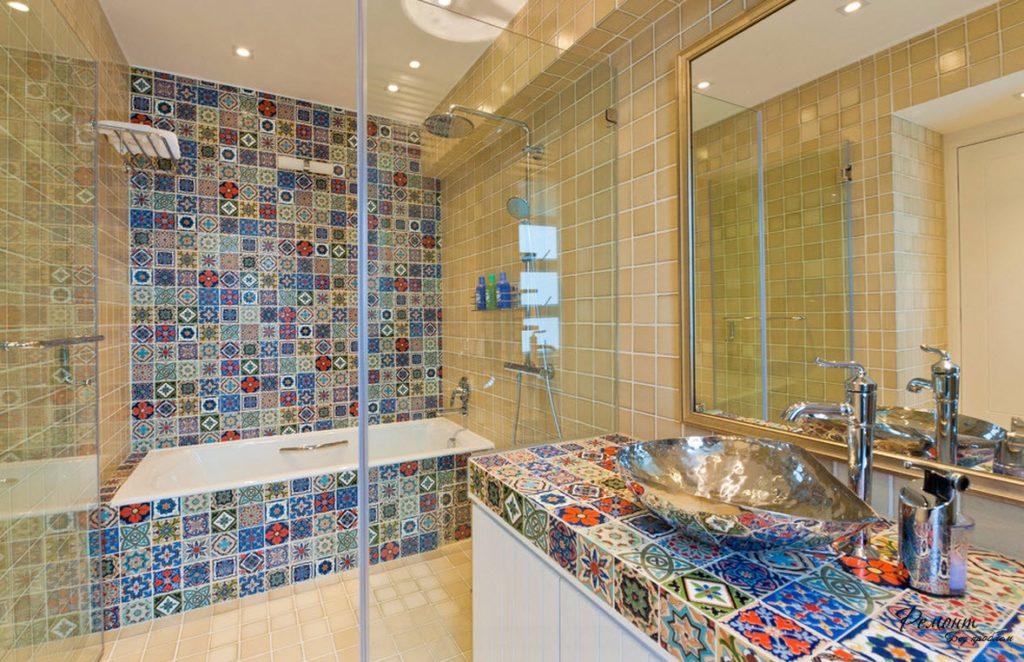 восточный стиль ванной комнаты
