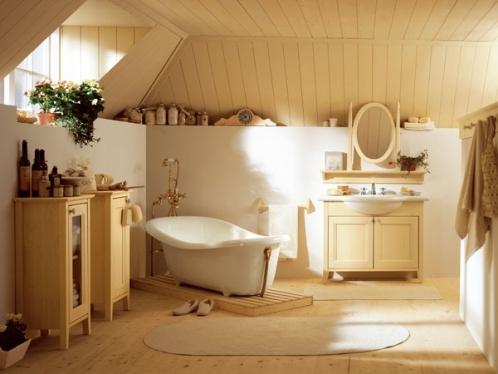 стиль кантри в ванной