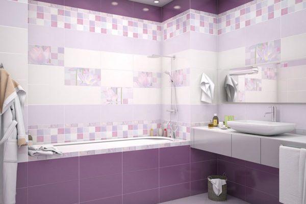 фиолетовая ванная