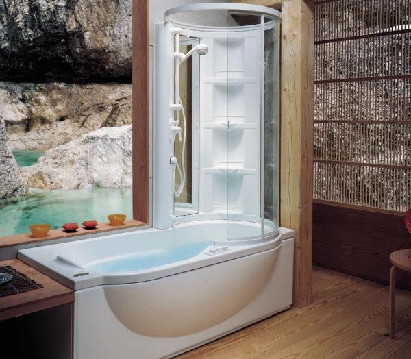 душевая кабина или ванна