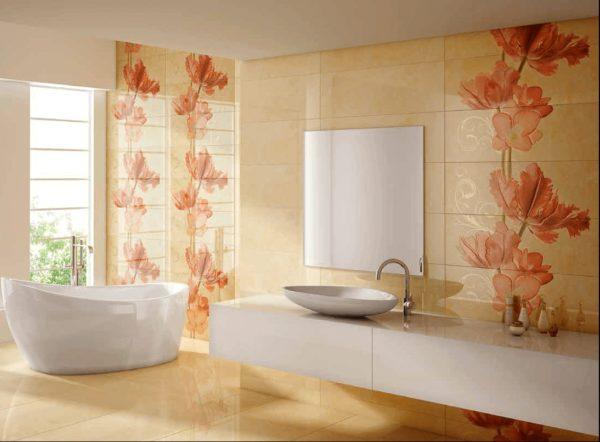 Керамическая плитка для ванной - фото (107)