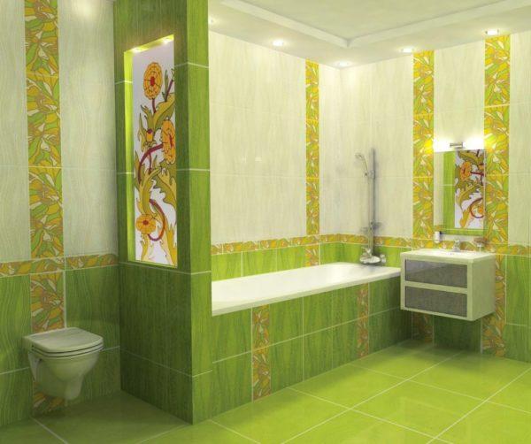 Керамическая плитка для ванной - фото (2)