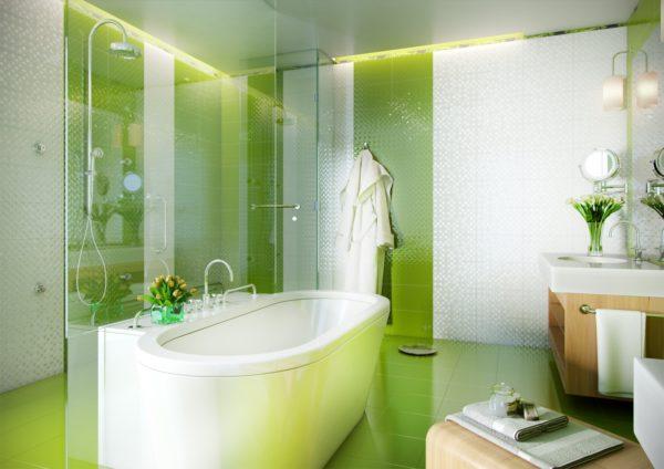 Керамическая плитка для ванной - фото (92)