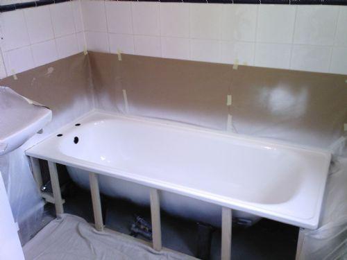 сушка ванны после восстановления покрытия