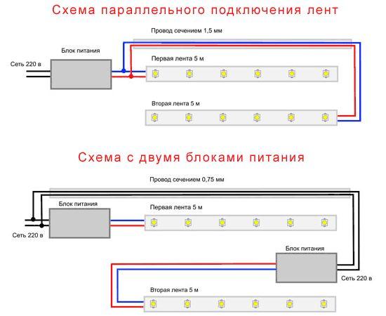 Схема блока питания для светодиодной ленты своими руками схема 5