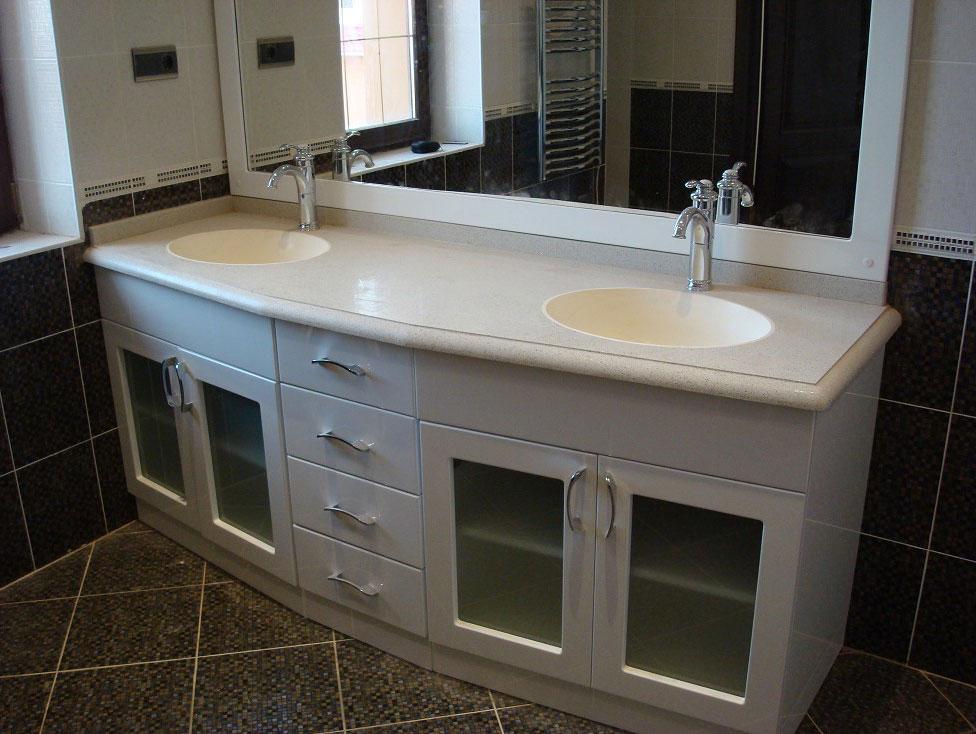 Столешница из кварца для ванной