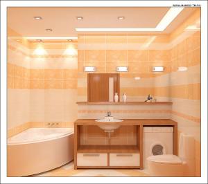 Организация освещения в ванной комнате с помощью галогенных ламп