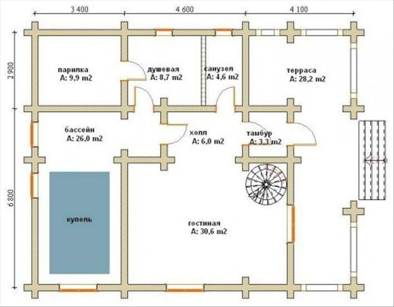 Планировка дома 10x12