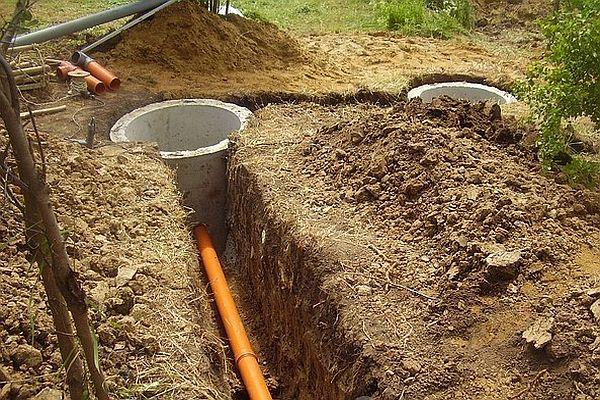 как сделать канализацию в доме из оцилиндрованного бревна