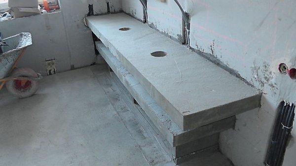 Столешница из бетона для ванной