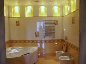 Лампы накаливания в дизайне ванной комнаты