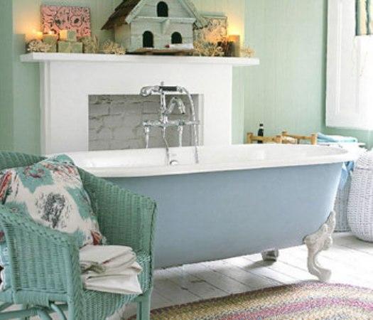 Ванная в стиле шебби-шик