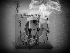 возгорание розетки