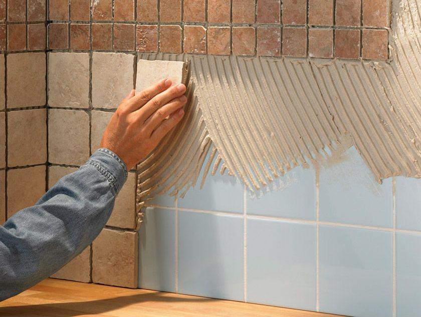 Как клеить плиточное покрытие на гипсокартон