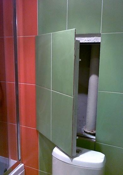 Короб в ванной для труб закрыть своими руками 76