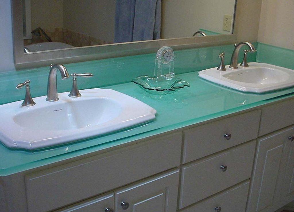 Столешница из ламината для ванной