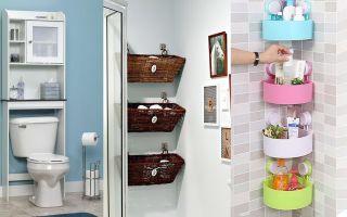 Хранение в ванной комнате: 10 способов использования стеллажей