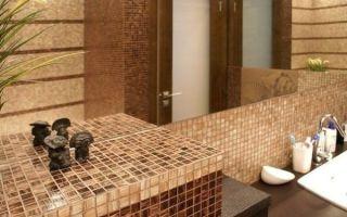 Бежевый и коричневый цвета в оформлении ванной комнаты